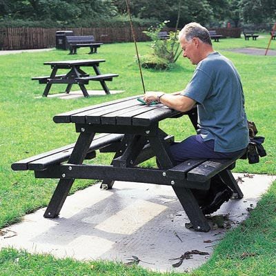Recycled Material Picnic Tables