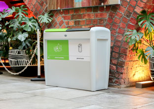 Nexus Evolution Duo Recycling bin creating a recycling station to recycle mixed recycling and for general waste