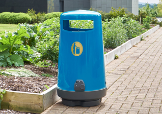 Topsy 2000 Litter Bin in Blue