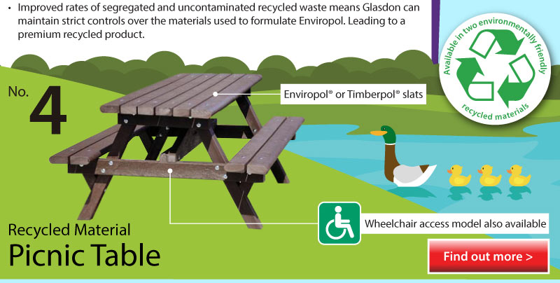 Top 5 Infographic Recycled Material Picnic Table