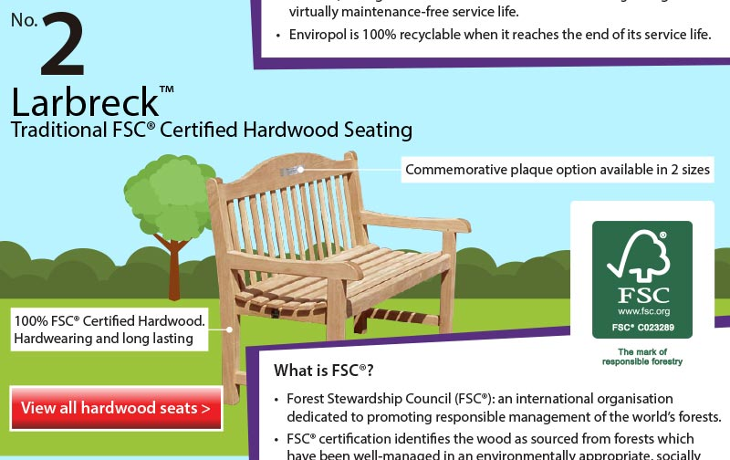Top 5 Infographic FSC Hardwood Traditional Seating