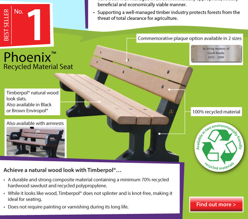 Top 5 Infographic Phoenix Recycled Material Seat