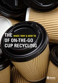 Download the Glasdon eBook - What, Why, How to of Cup Recycling Cover