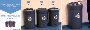 Glasdon focus on implementing a new recycling initiative for GE healthcare at the Maynard Centre