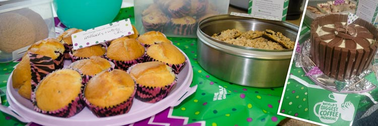 #Worldsbiggestcoffeemorning at Glasdon