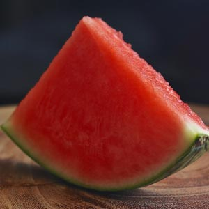 The rind of Watermelon