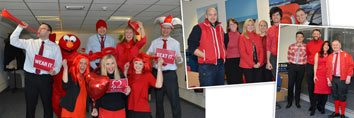 Glasdon goes red for The British Heart Foundation!