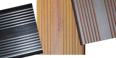 Glasdon Vandalex Slat options: Light Wood, Dark Wood, Black, Silver