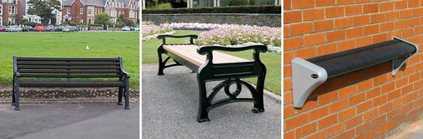 Glasdon Lowther™ Seat, Stanford™ Bench and Carleton™ Perch Seat