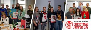 Glasdon staff in festive jumpers for a fantastic cause.