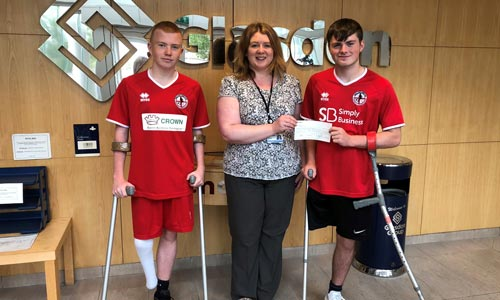 England amputee's receive donation
