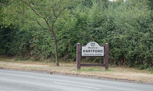 Village Signage at Hartford