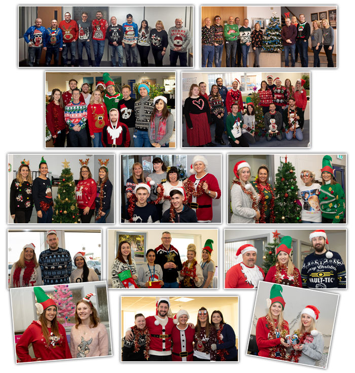 Christmas Jumper Day 2018 Collage of Funsraising Photos