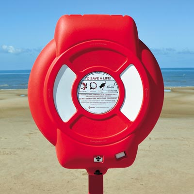 Guardian Lifebuoy Housing on the promenade at Blackpool