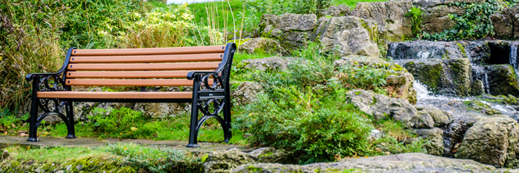 Lowther bench in a park