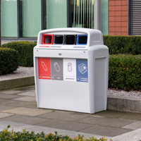 Nexus® Evolution City Quad Recycling Bin