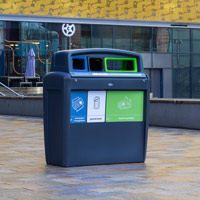 Nexus® Evolution City Trio Recycling Bin