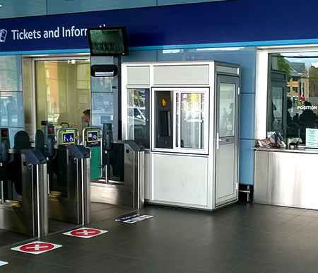 The Warrior gateway kiosk at Reading Station