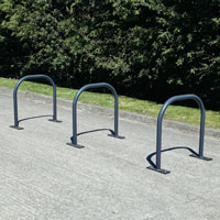 Bi-Stander™ Sheffield Hoop Cycle Stand in Armortec Coated Steel