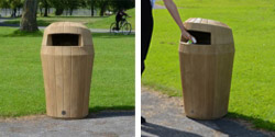 The Sherwood outdoor bin with lockable hooded top