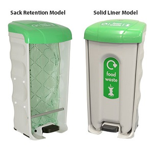 Nexus Shuttle Pedal Bins - Sack Retention Model & Solid Liner Model