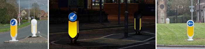 Signmaster Ultra Rebound Bollard provides high visibility in both the daytime and nightime.