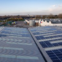 Solar Panels on Warehouse 3 at Glasdon Limited