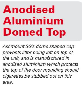 What is this? Ashmount SG anodised aluminium dome top