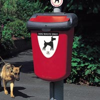 Retriever 35 Dog Waste Bin in Red