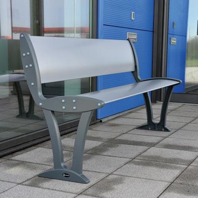 Alturo seat with silver seat and dark grey ends