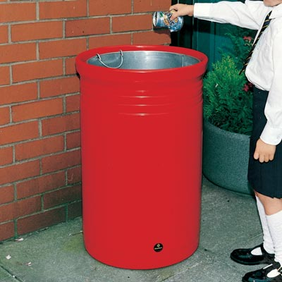 Commodore litter bin in Red
