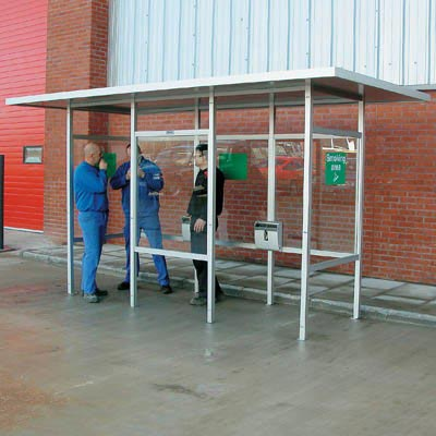 Carleton 50 Flat Roof (3 bay long x 1 bay wide) Smoking Shelter