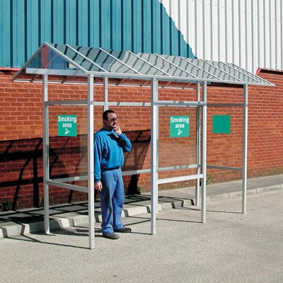Carleton 50 Pitched Roof (3 bay long x 1 bay wide) Smoking Shelter