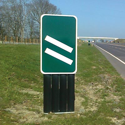 Chevroflex Ultra sign system countdown marker