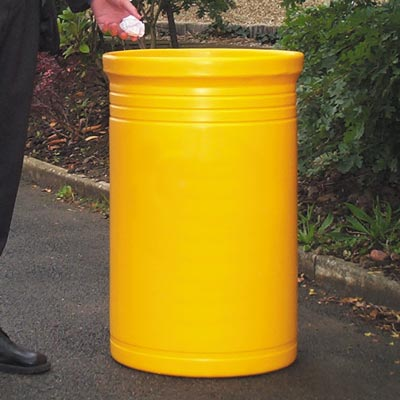 Commodore litter bin in Yellow