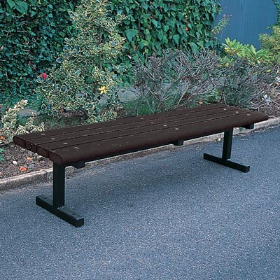 Countryside bench with black Enviropol slats