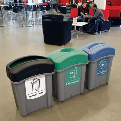 Eco Nexus 60 - Indoor University Recycling Station
