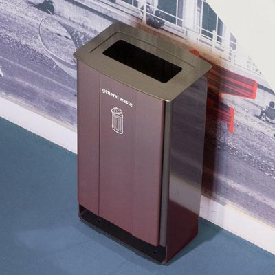 Electra 60 Recycling Bin With Vinyl Cut General Waste Graphics