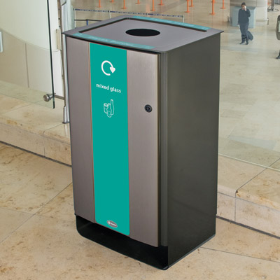 Electra™ 85 Mixed Glass Recycling Bin