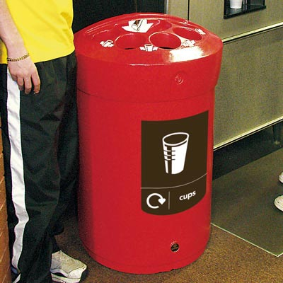 Envoy Cup Recycling Bin in Red