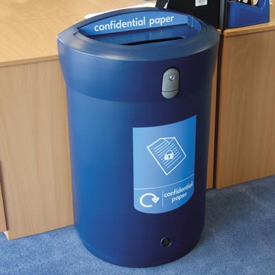 Envoy™ Confidential Paper Recycling Bin - 110 Ltr