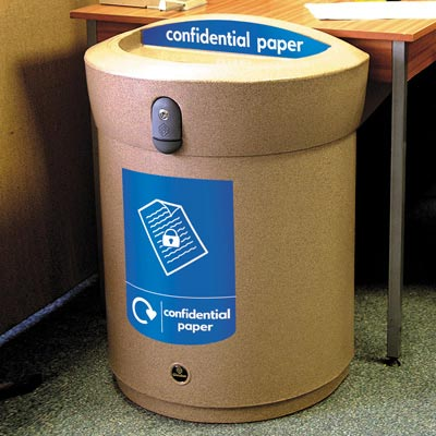 Envoy™ Confidential Paper Recycling Bin  - 90 Ltr