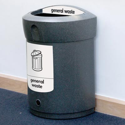 Envoy™ General Waste Open Top Bin  - 90 Ltr