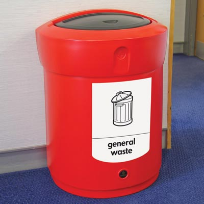 Envoy™ General Waste Swing Top Bin  - 90 Ltr
