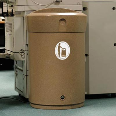 Envoy 110L internal litter bin in Sandstone