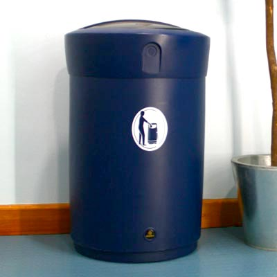 Envoy 110L internal litter bin in Dark Blue