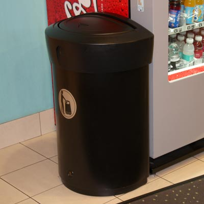 Envoy 110L internal litter bin in Black