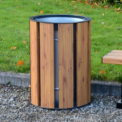 Fusion 85L litter bin - Light Wood