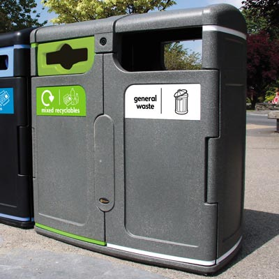 Gemini™ General Waste / Mixed Recyclables Bin