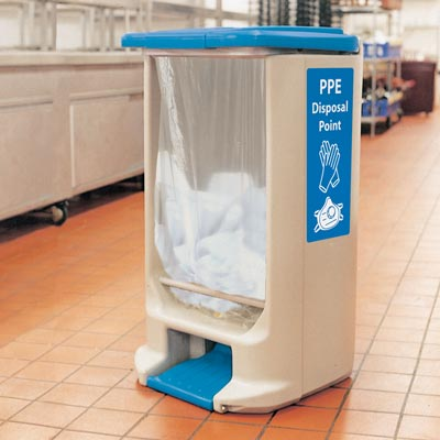 Hippo™ PPE Waste Bin Foot pedal operated